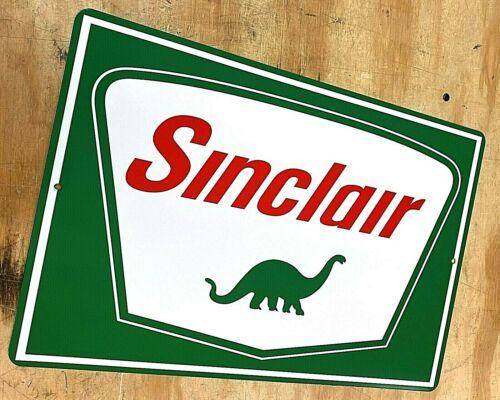 "Sinclair Dino Dinosaur Gasoline Logo Aluminum Metal Sign 12""x18"" Gas Oil"