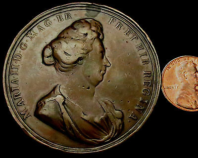 P779: 1694 Queen Mary (as in William & Mary) Large Medal.  M.I. 111/343.
