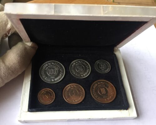 JORDAN 6 COINS PROOF SET 1965 - MOTHER OF PEARL BOX