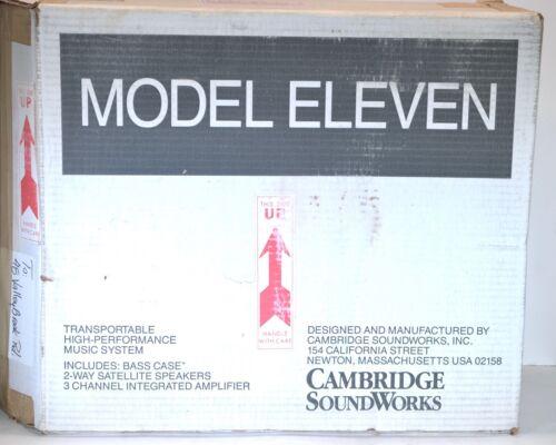 Cambridge Soundworks Model Eleven 11 portable suitcase speaker system w/box
