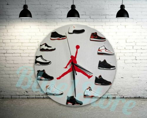 "New Handcrafted 12"" 2D Jordan Sneakers clock quartz nike supreme off white yeezy"