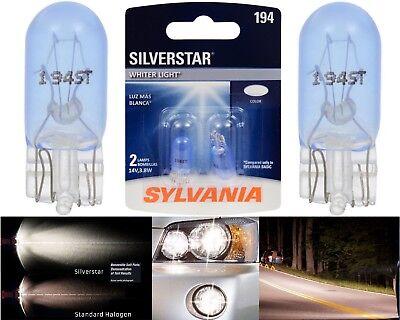 Sylvania Silverstar 194 3.8W Two Bulbs License Plate Tag Light Upgrade OE Stock