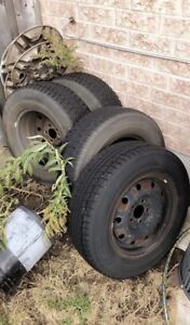 Dunlop Winter Tires with rims