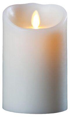 Luminara Flameless Candle - Vanilla Scented Ivory Wax Pillar - 7 x 3.5 Inch