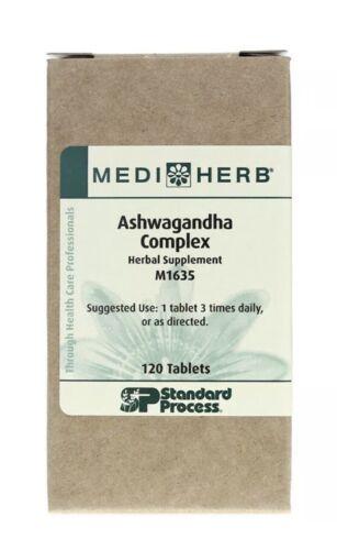 Standard Process Ashwagandha Complex MediHerb 120 Tablets Exp. 10/22 Withania