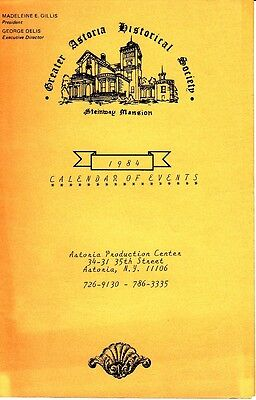 Greater Astoria Historical Society Steinway Mansion 1984 Calendar Events Queens