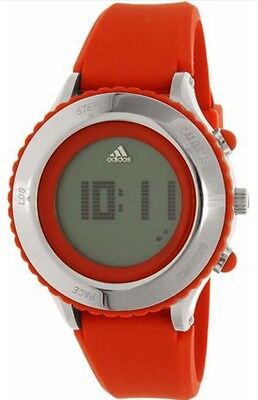 Adidas ADP3194 Performance Steel Red & Silver Digital Runners Unisex Watch NWT