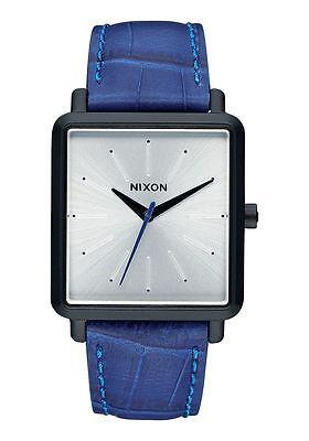 NIXON Men K Squared A472 2131 00 Blue Leather Retail $175