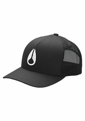 Nixon Iconed Trucker Snapback Hat Cap Black White - Nixon Black Hat