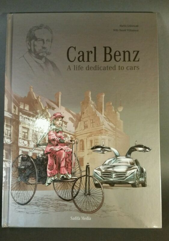 """Carl Benz, A Life Dedicated to Cars"" Graphic Biography. Sealed. Unopened book"
