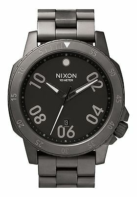 NEW NIXON RANGER Watch | ALL GUNMETAL Quartz Analog | A506 632 | Authentic 44mm for sale  Shipping to India