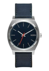 Brand New Nixon Time Teller Navy Leather
