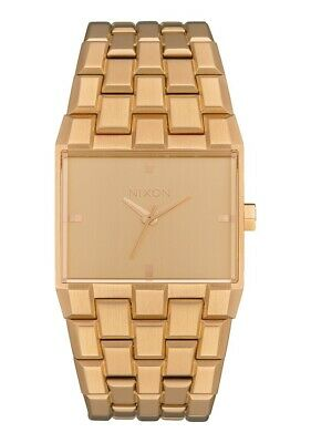 Nixon Women's Ticket A1262502-00 34mm Gold Dial Stainless Steel Watch