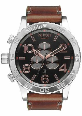 c8989c613d7 PRE-OWNED Nixon 51-30 Chrono Men s Gray Rose Gold One Size Dress