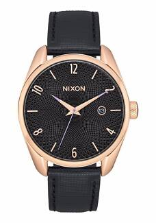 Brand New Nixon SMS Bullet Leather Rose Gold, Black & Purple, 38m