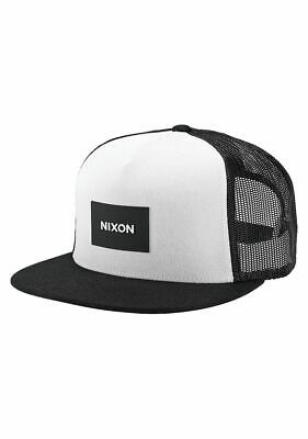 Nixon Team Trucker Snapback Hat Black White - Nixon Black Hat