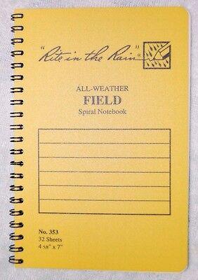 Rite In The Rain 353 All-weather Field Spiral Notebook