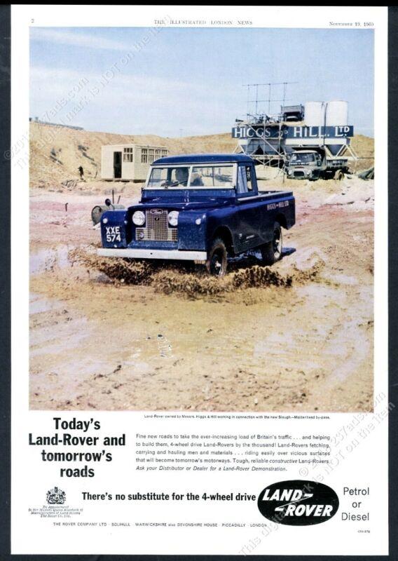 1960 Land Rover pickup truck color photo UK vintage print ad