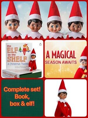 Elf On The Shelf Complete Set Book And Boy Male Doll NEW