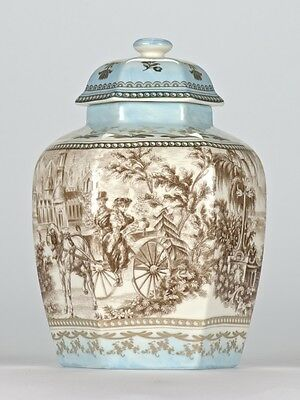 Antique style Chinoiserie Chinese Temple Jar Ornate Edwardian Mark 21.5cm/8.5""