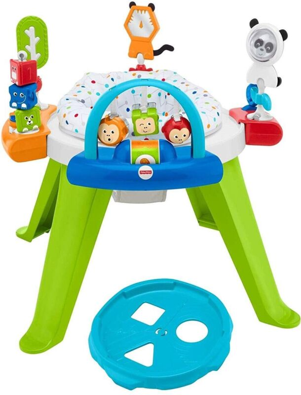 Fisher Price 3-in-1 Spin and Sort Activity Center for Toddlers and Infants-Used