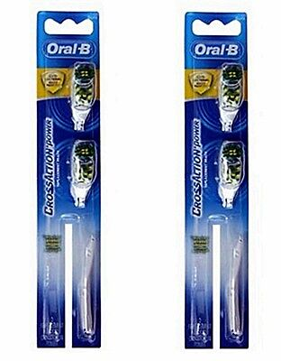 Whitening Powered Toothbrush - Oral B Cross Action Power Whitening toothbrush 4 Brush Heads