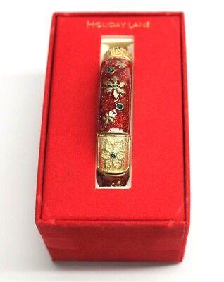Macys Holiday Lane Christmas Bracelet Bangle Snow Flake Flower Design for Women