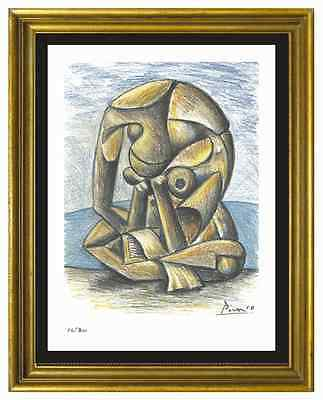 """Pablo Picasso Signed/Hand-Numbered Ltd Ed """"Bather w Book"""" Litho Print (unframed)"""