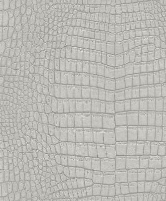 Rasch Animal Snake Crocodile Skin Grey Wallpaper Paste The Wall Textured Vinyl ()
