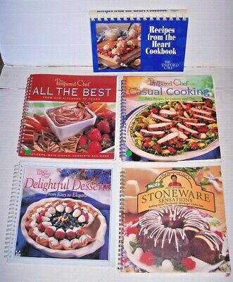 Lot 5 Pampered Chef Cookbooks All the Best Main Dishes Stoneware Casual