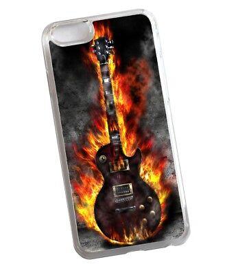 Frío Blues Rock Llameante Guitarra Eléctrica Diseño Claro Funda Para IPHONE 7