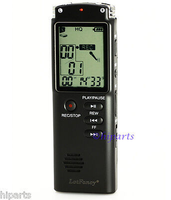 8GB Voice Activated Rechargeable Digital Audio Recorder Dictaphone Backlight USB