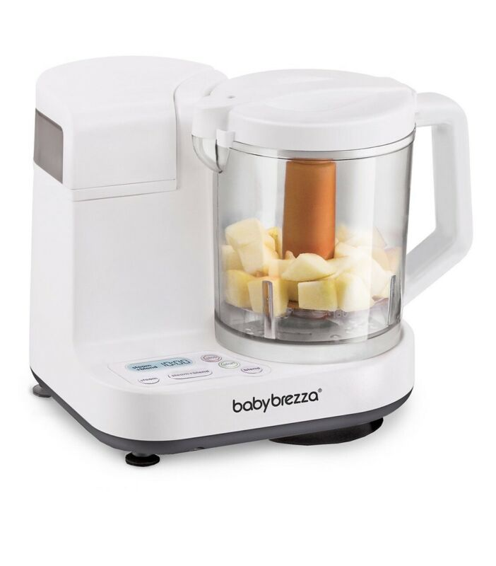 Baby Brezza Glass Baby Food Maker, Steam & Blend 4 Cup Capacity