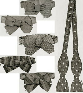 How-to-make-bow-ties-Downton-Abbey-Titanic-era-vintage-crochet-knitting-pattern