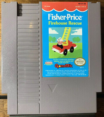 Fisher-Price: Firehouse Rescue (1992) Nintendo NES Cleaned Tested Rare Gametek