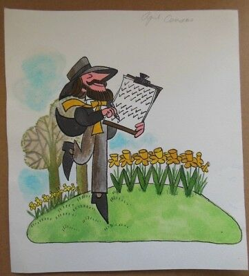 Original Eric Hill Artwork (Reader's Digest/Spot The Dog) Cartoon Watercolour 2