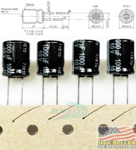 QUANTITY 200 PANASONIC 6.3V 1800uf 105C Capacitors 8 x 20