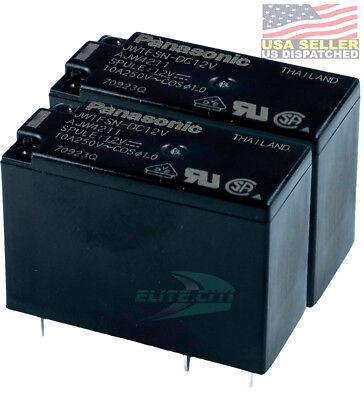2-pack Panasonic Jw1fsn-dc12v Pcb Relay Miniature Spdt 10a 250vac 12vdc
