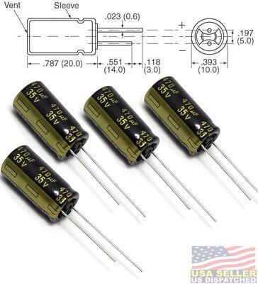 Panasonic Fm 470uf 35v Low-esr Radial Capacitors 5000hrs 105c 10mm Pack Of 4