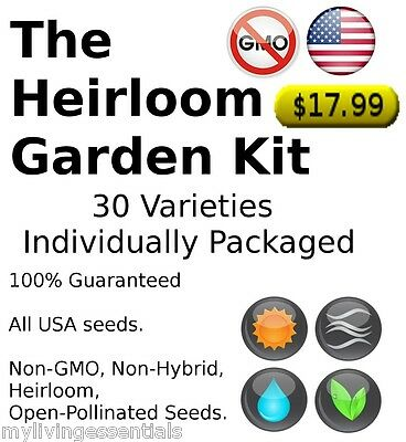 Survival Seeds15,000 Emergency Food Vegetable  Garden ...