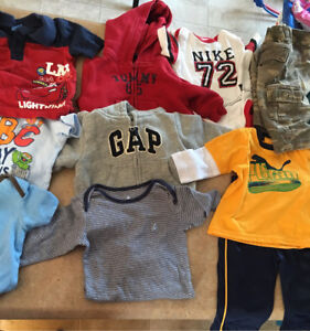 Selection of designer baby clothes
