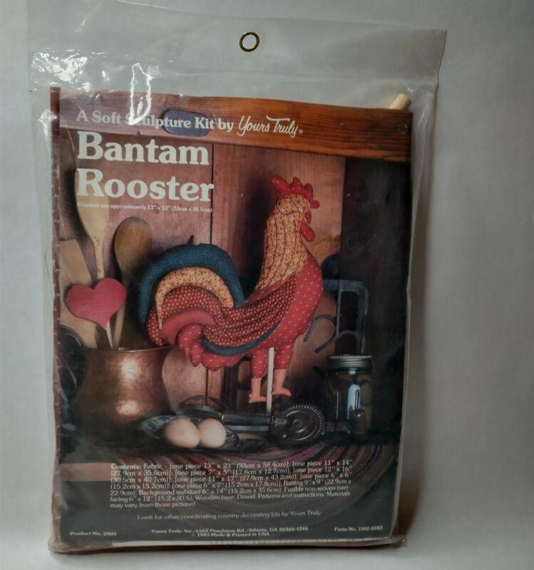 Vintage 1983 Bantam Rooster A Soft Sculpture Kit By Yours Truly Primitive Craft