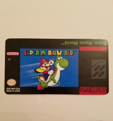 Super Mario World Snes Cartridge Replacement Label Sticker comprar usado  Enviando para Brazil