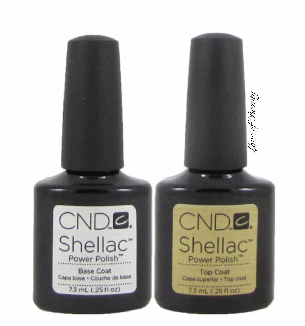 Creative Nail Design CND UV Polish Gel Coat SET DUO 2 pcs ~