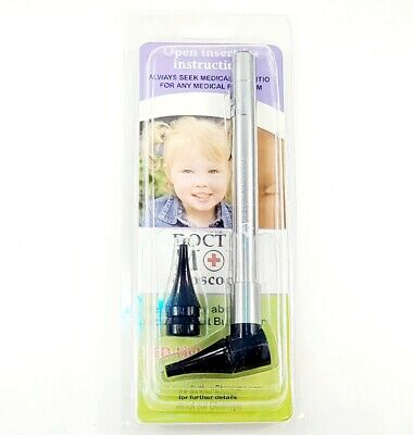 Doctor Mom Otoscope Led Source White Light Stainless Infant Child Adult New