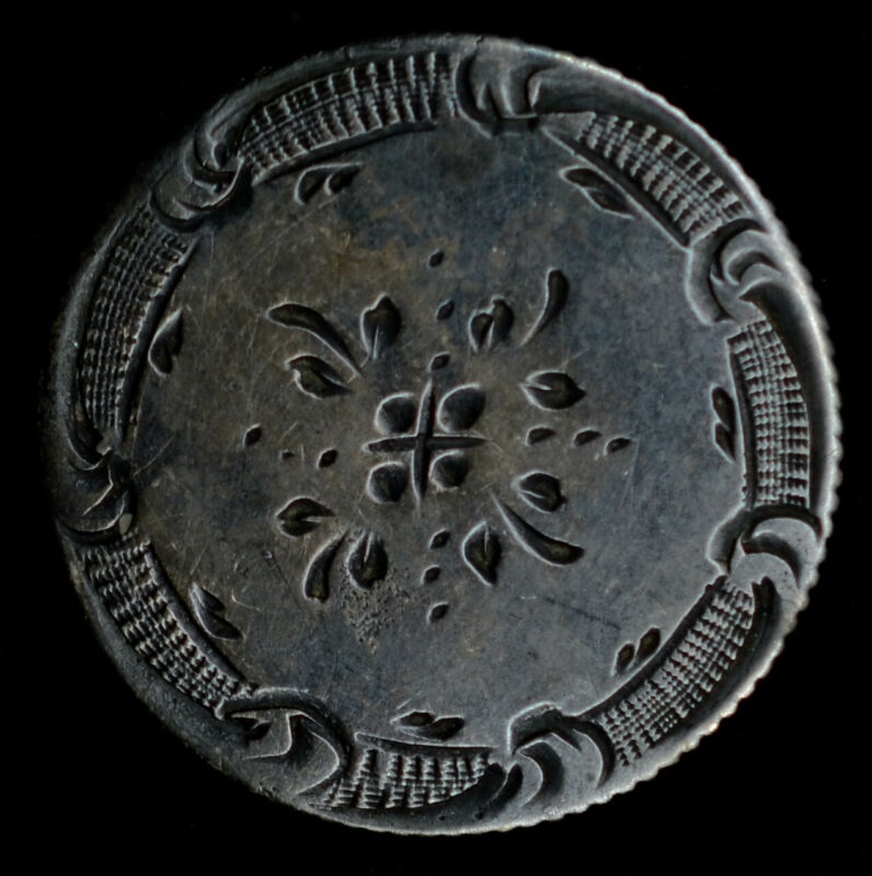 Love Token Engraved Floral Design On Liberty Seated Half Dime 1/2 10c Silver