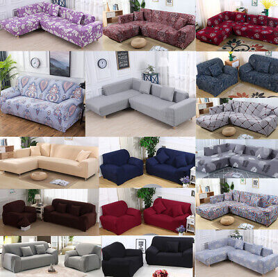 Stretch Chair Loveseat Sofa Cover 1 2 3 4 Seater Protecter Couch Cover Slipcover