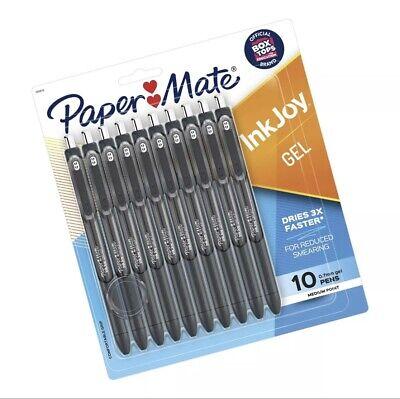 Paper Mate Inkjoy Gel Pens 0.7mm Fine Point Black 10 Count