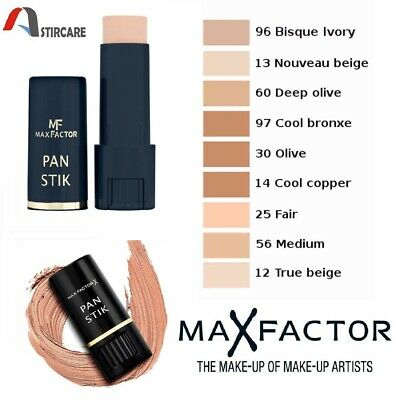 Max Factor Pan Stik Foundation Full Coverage 9g All Shades