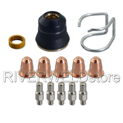 13pcs Plasma Cutter Torch S25 S45 Kit PR0110 Electrodes PD0116-08 Tips Cap Gas